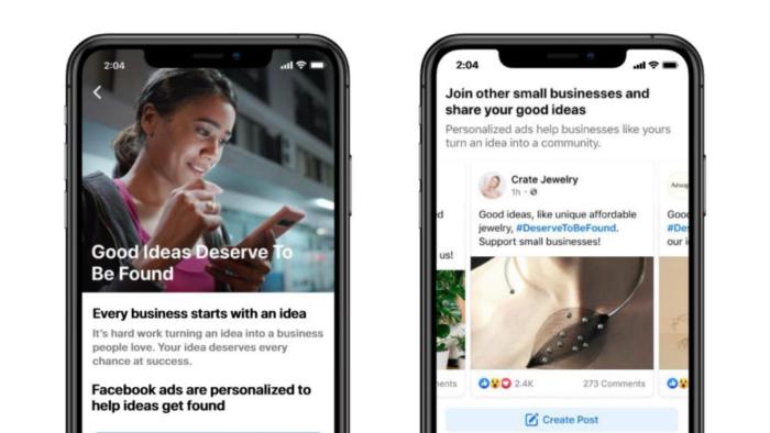 Facebook critica Apple indiretamente em campanha