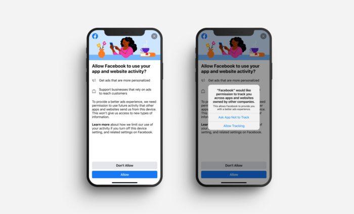 Notificação do Facebook pede permissão para rastrear usuários no iOS