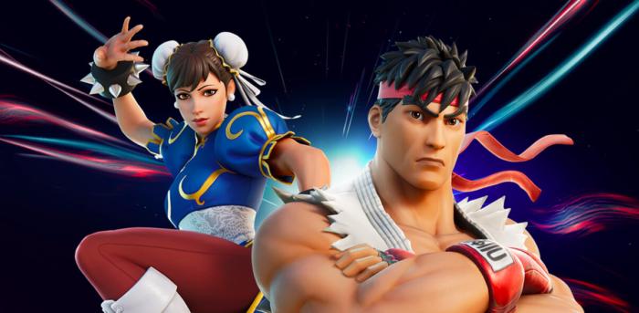 Fortnite e Street Fighter unem forças (Imagem: Divulgação/Epic Games)
