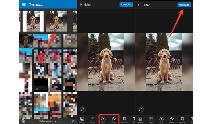 Processo para colocar uma foto inteira no perfil do Facebook (Imagem: Reprodução/InFrame)