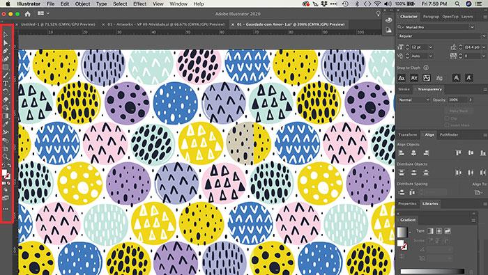 Caixa de ferramentas do Illustrator
