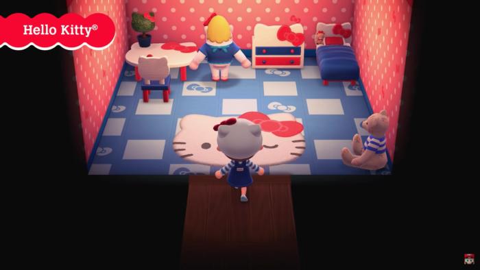 Coleção de Hello Kitty em Animal Crossing: New Horizons (Imagem: Divulgação/Nintendo)