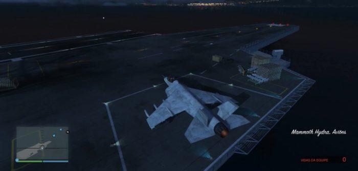 o Hydra é uma poderosa aeronave de combate em GTA 5 e San Andreas (Imagem: Reprodução / GTA 5)
