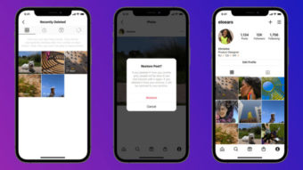 Instagram permite restaurar posts, stories e reels apagados