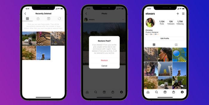 Instagram permite recuperar fotos e vídeos apagados (Imagem: Divulgação)