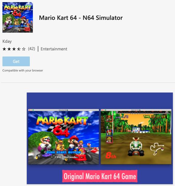 Extensão promete reproduzir Mario Kart 64 no Microsoft Edge (Imagem: Reprodução/The Verge)