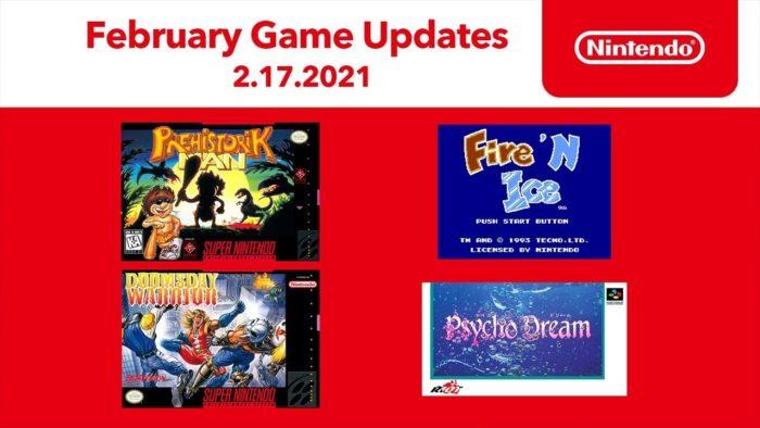 Jogos do Nintendo Switch Online que chegam em fevereiro de 2021 (Imagem: Divulgação/Nintendo)