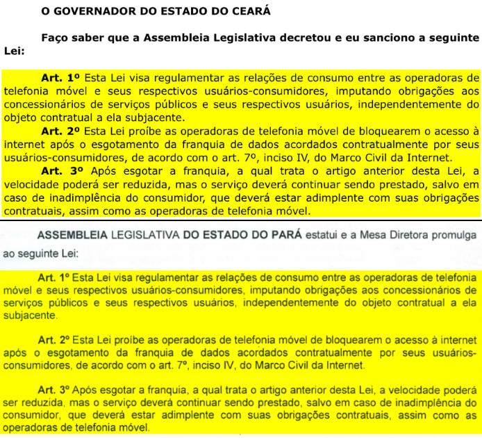 Projetos de lei idênticos foram apresentados no Ceará e no Pará (Imagem: Reprodução/Alepa e ALCE)