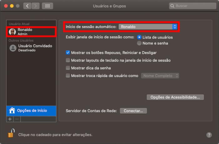 Configuração de inicialização do macOS (Imagem: Reprodução/Apple)