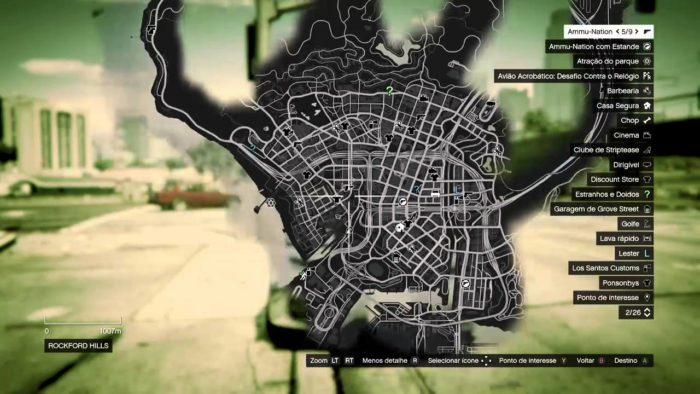 Procure pelas barbearias espalhadas no mapa de Los Santos para uma mudança no cabelo e barba (Imagem: Reprodução / GTA 5)
