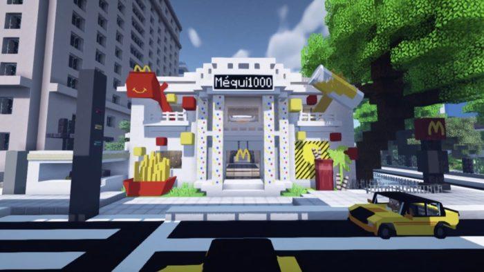 Méqui 1000 em Minecraft (Imagem: Divulgação/McDonald's)