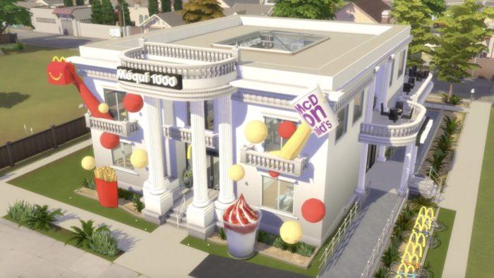Méqui 1000 em The Sims 4 (Imagem: Divulgação/McDonald's)