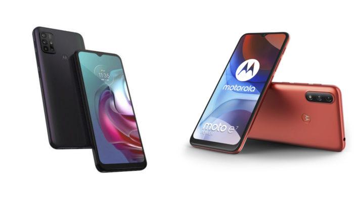 Possíveis Moto G30 e Moto E7 Power (Imagem: Reprodução/WinFuture)