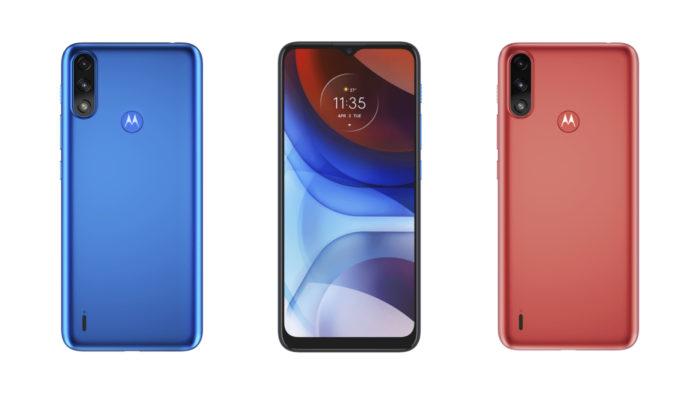 Moto E7 Power tem duas opções de cores (Imagem: Divulgação/Motorola)