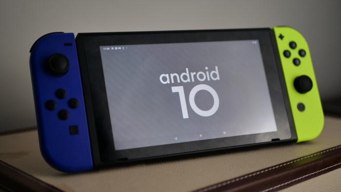 Android 10 rodando no Nintendo Switch (imagem: Adam Conway/XDA-Developers)