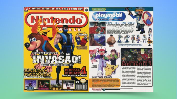 Edição 1 da Nintendo World (Imagem: Reprodução/Editora Conrad)