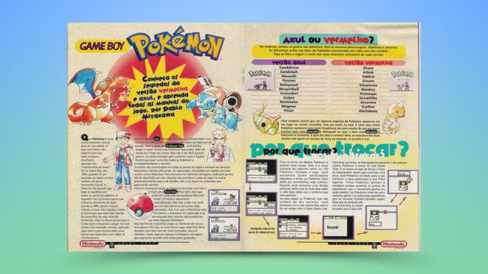 Detonado de Pokémon Red e Blue na Nintendo World 11 (Imagem: Reprodução/Editora Conrad)