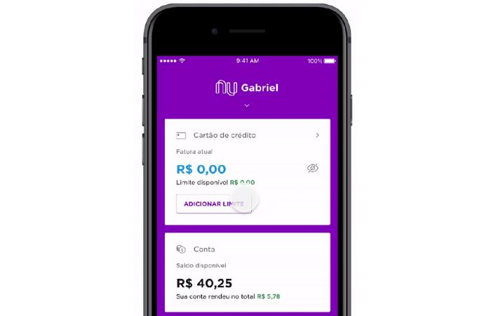 Como adicionar limite ao cartão de crédito pré-pago Nubank