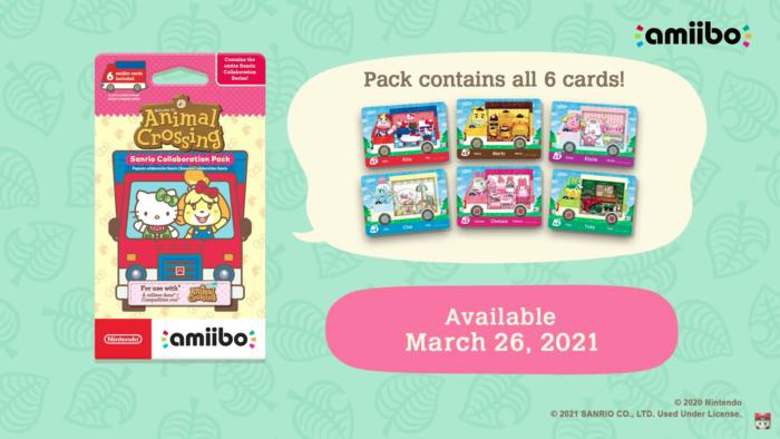 Pacote de personagens de Hello Kitty em Animal Crossing: New Horizons (Imagem: Divulgação/Nintendo)