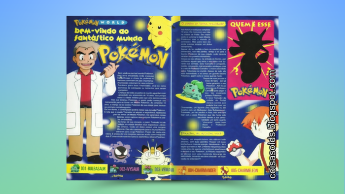 Introduction to the Pokémon world in the Pokémon Club magazine (Image: Reproduction / Editora Conrad)