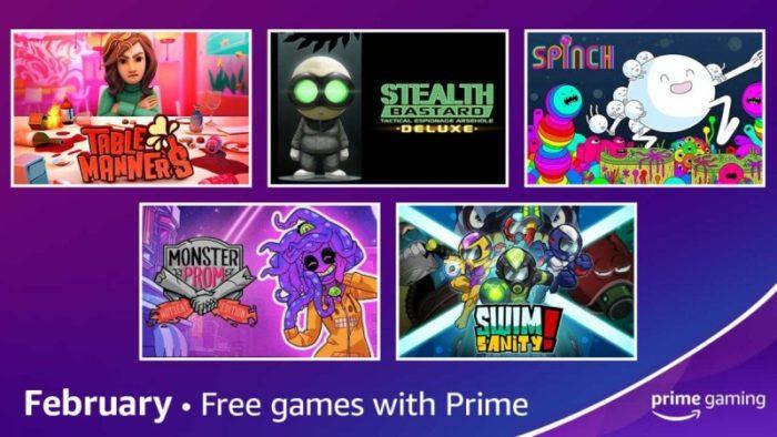 Prime Gaming fevereiro / Divulgação / Amazon