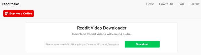 Como baixar vídeos pelo Reddit Save (Imagem: Reprodução/Reddit Save)
