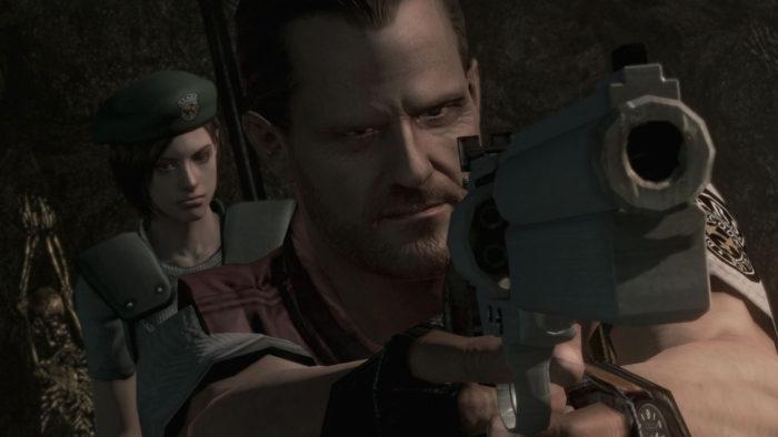 Barry é um NPC e não tem problemas com munição, mas convenhamos, ele sempre foi o personagem mais legal do jogo (Imagem: Divulgação/Capcom)