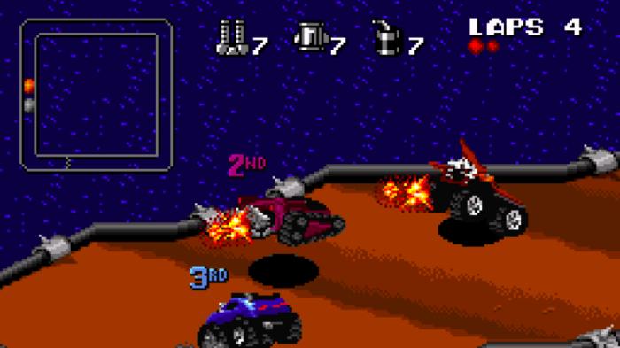 Rock N' Roll Racing chega aos consoles mais novos (Imagem: Divulgação/Blizzard)