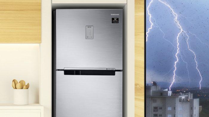 Geladeira <a href='https://meuspy.com'>Samsung</a> Evolution RT46 com PowerVolt (Imagem: Divulgação/<a href='https://meuspy.com'>Samsung</a>)