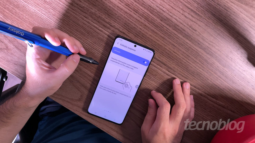 Samsung Galaxy S21 Ultra (Imagem: Paulo Higa/Tecnoblog)