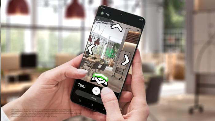 UWB permite obter direções para localizar SmartTag+ (Imagem: Divulgação/Samsung)