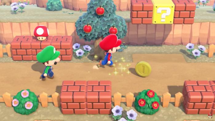 Coleção de Super Mario em Animal Crossing: New Horizons (Imagem: Divulgação/Nintendo)