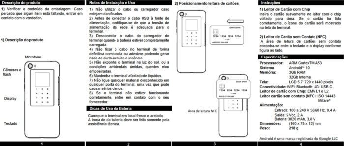 Manual do Tectoy M50 (imagem: reprodução/Anatel)