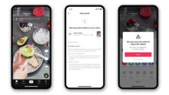TikTok mostra alertas em vídeos com informações duvidosas
