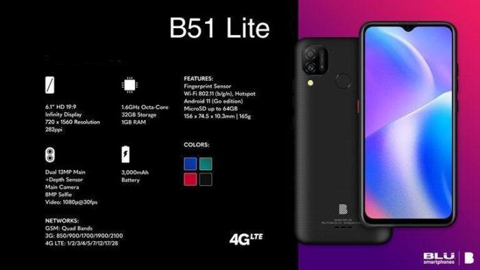Blu B51 Lite (Imagem: Divulgação/ Casa do Celular)