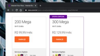 Vivo reduz preço da internet de 200 Mb/s para competir com Claro e Oi