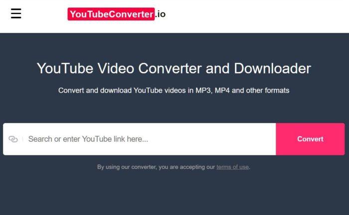 youtubeconverter.io (Imagem: Reprodução/TorrentFreak)