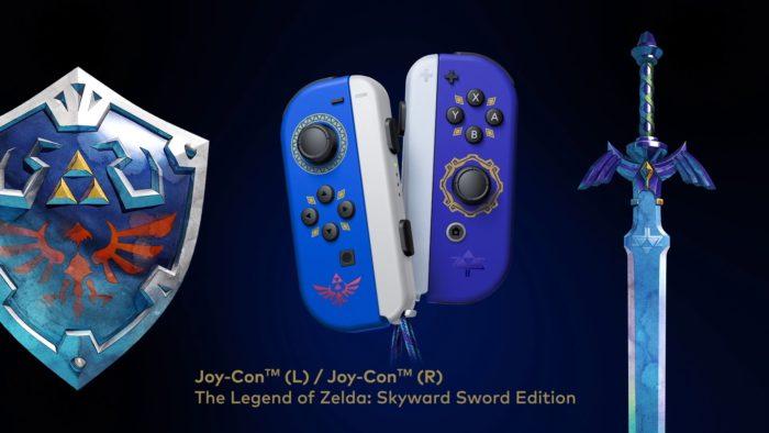 Joy-Con especiais de Zelda HD (Imagem: Divulgação/Nintendo)
