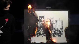 Grupo vende arte de Banksy como NFT por US$ 382 mil após queimar original