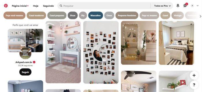 A variedade de ideias e inspirações no Pinterest é imensa (Imagem: Reprodução / Pinterest)