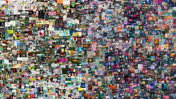 """Obra NFT de Beeple: """"Everydays: The first 5000 days"""" (Imagem: Reprodução)"""