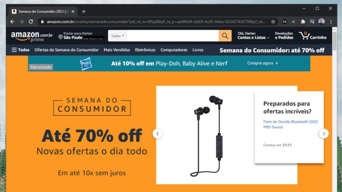 Semana do consumidor Amazon (Imagem: Reprodução/Tecnoblog)