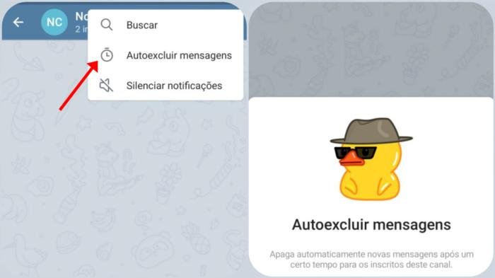 como apagar mensagens de grupo no telegram