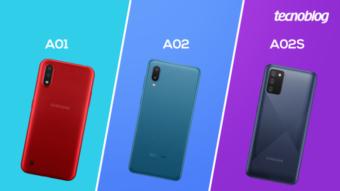 Comparativo: Samsung Galaxy A01, A02 ou A02s; qual comprar?