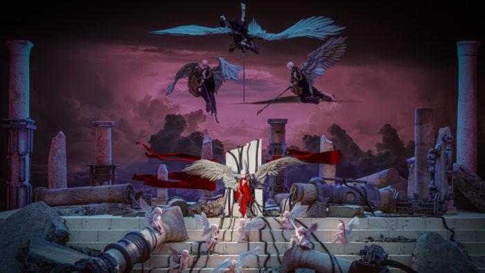 """""""Gods in Hi-Res"""", arte digital em NFT criada por Grimes (Imagem: Divulgação)"""