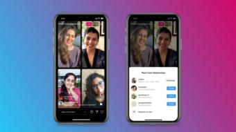 Instagram lança Salas ao Vivo para lives com até 4 participantes