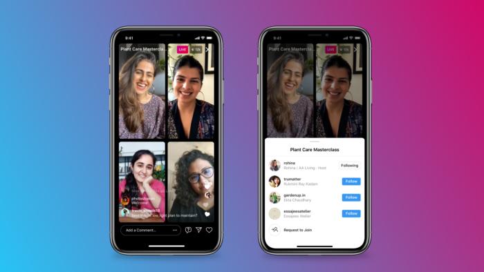 As Salas Ao Vivo do Instagram já podem ser usadas nos dispositivos Android e iOS (Imagem: Divulgação/Instagram)