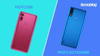 Comparativo: Moto E6i ou E7 Power; qual é o melhor?