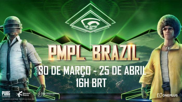 PUBG Mobile Pro League Brasil começa em 30 de março (Imagem: Divulgação/PUBG)