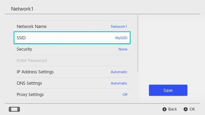 Configurações manuais de Internet do Nintendo Switch (Imagem: Suporte/Nintendo)